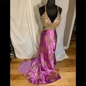 Mac Duggal couture prom/ pageant gown, size 6